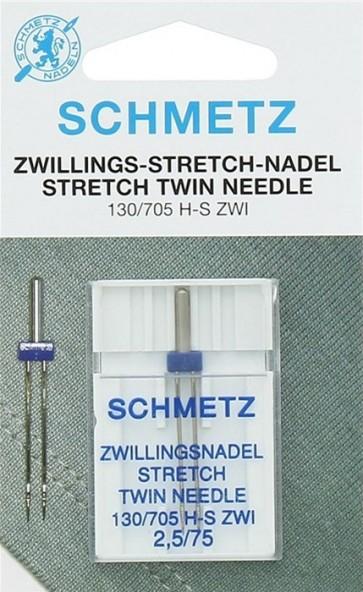 Schmetz tweelingnaald stretch 2,5/75