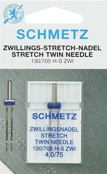 Schmetz tweelingnaald stretch 4/75